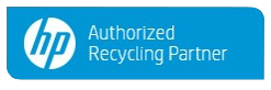 HP authorized recycling partner button